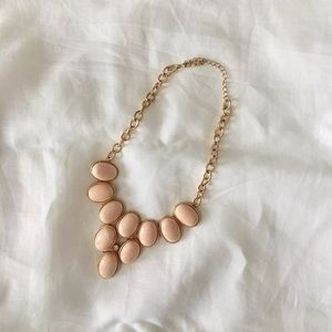 Anthropologie Peach Statement Necklace • NWOT